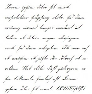 18th Century Handwriting Font Example