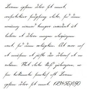 18th Century Handwriting Font Example